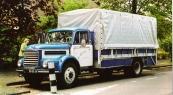 De vrachtwagen van Steffen na restauratie.