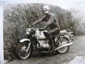 Henk Tuininga op zijn BMW omstreeks 1970.