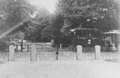 De tram op weg naar Drachten passeert de overtuin van Lyndenstein te Beetsterzwaag.