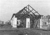 De afbraak van het stationsgebouw in 1962.