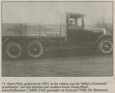 De nieuwe Whippet Six heeft op de zijkant de volgende tekst: MOTORBOOTDIENST GORREDIJK-LEEUWARDEN FIRMA MAST & Zn. TELEF. 38. In de cabine zit Harm Piet Mast. Deze vrachtauto is aangeschaft op 4 januari 1930 voor circa F 6.000. De oude Ford bracht circa F 2.000 op.  Koop Mast heeft in deze nieuwe vrachtauto 14 jaar gereden tot de bezetter deze auto in september 1944 vorderde. FA. van der Made & Mast, Gorredijk, gemeente Opsterland. Afgegeven: 11-12-1925 (Overgeschreven 21 januari 1930)  • Firma T. Mast & Zoon, Gorredijk, gemeente Opsterland. Afgegeven: 21-1-1930 (Overgeschreven)