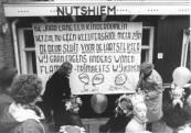 De sluiting van de Nuts - Kleuterschool aan de Schoolstraat te Gorredijk op 16-11-1984.