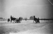 Op de ijsbaan van Gorredijk Folkert Coehoorn aan het Belslidzjen. (foto via D.Coehoorn)