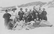 27 juni 1935, vrouwenvereniging H.I.N. Gorredijk - Kortezwaag. (foto via D.Coehoorn)