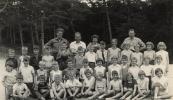 Openbare Lagereschool Kortezwaag 1955-1956. namen niet bekend.