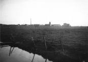 De weilanden tussen Stationsweg en Kerkewal waren nog