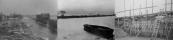 Het stuk vaart op de linker foto zou spoedig gedempt worden als inleiding tot de bouw van een nieuw gemaal in de Kromten (foto midden).Het resultaat van één en ander was dat de landerijen tussen Langezwaag n Gorredijk s'winters niet meer onder water kwam te staan. Het gemaal was in 1963 bedrijfsklaar.