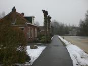 Warmehoek in de winter van januari 2010. De woning werd gebouwd in 1906 en in 1979 verbouwd.
