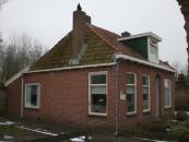 De woning uit 1906 van de familie Ringenoldus op de Warmehoek in de winter van 2010.