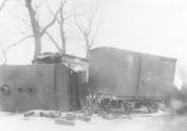 Het tramongeluk op de Hegedyk te kortezwaag op 18 februari 1901.