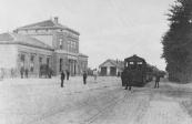 Spoor en tramstation te Heerenveen.