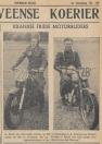 2)  Uit de Heerenveense Koerier van 4-8-1948. A. Heida van Gorredijk (links) op 350 cc Matchless en A. Koning van Oosterwolde op 500 cc Triumph, die a.s. Zondag in België ons land zullen vertegenwoordigen in de Motorcross des Nations.
