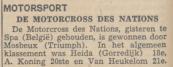 5) Uit de krant van 9-8-1948. De Motorcross des Nations.