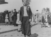 De veel te vroeg overleden Jacob Coehoorn liep ook mee in de optocht van 5 mei 1945.