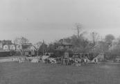Een Canadese legereenheid bivakeerde op het Marktplein.