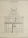 Restauratieplan voorgevel Kerkewal 76   1951.