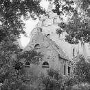 Achter pakhuis en gevel achter aanbouw Brouwerswal 11  1969, (foto van der Wal)