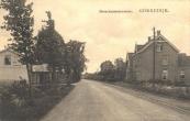 1918, Gezicht op de Marechausseekazerne aan de Stationsweg