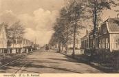 1932,  Gezicht op de U.L.O. school aan de Stationsweg te Gorredijk.