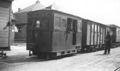 Locomotief 23 op de Stationsweg, 6 mei 1939