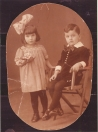 Magalina(Magda) Leefsma 1918-1943 en Izak Leefsma (1917-1944), kinderen van Jozef Leefsma