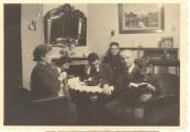 Gezin Jozef Leefsma, vl.n.r Rebecca Leefsma-de Vries, Magdalena, Izak, Heiman(Herman), Jozef en Jacob