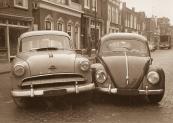 Aanrijding Hoofdstraat 1960 (foto Fred Kok)