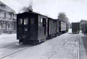 Tram 23 op de stationsweg op 23 mei 1939.