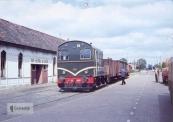 Foto gekregen van collega. Tot in de jaren zestig van de 20e eeuw waren enkele NTM-tramlijnen in Friesland in gebruik voor goederentrams van de NS. De speciaal voor dit vervoer gebouwde loc NS 453 (serie 451-460) met trein 5020 te Gorredijk op 1 september 1962, kort voor de sluiting van deze lijn. Foto: J.G.C. van de Meene. Jelle Hofstra