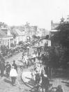 Voorjaarsmarkt te Gorredijk in de dertiger jaren.