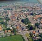 Luchtfoto van Jan de Vries van Gorredijk omstreeks 1978.
