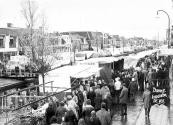 Natte najaarsmarkt in 1976