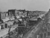 In 1948 werd de sluis van Gorredijk van nieuwe kademuren voorzien. Tijdens de oktobermarkt dat jaar was het werk nog niet klaar.