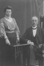 Jan Luitzen van der Meulen (1861-1947) en Jantje Alberta Eggink (1870-1938) Zij waren logementhouder in de Koornbeurs.