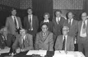 Bestuur W.H.I. 1976 Staande: Mient Faber, Bart de Boer, Mieke Kersbergen, Harm de Jong, Appie Mulder, Harm J.Bijlsma. Zittend: Jouke v/d Zee, Durk Boorsma, Wijtse Veenstra en Jan Rudolphy.