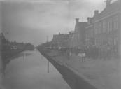 Muziekkorpsen op de Brouwerswal te Gorredijk.