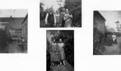 Jan Kort was in 1881 in Langezwaag geboren en trouwde met Antje Douwes Faber met wie hij eerst een tiental jaren aan de Stationsweg woonde. Daar werd in 1912 hun dochter Attje Sijke geboren. Jan maakte meubels van pitriet maar repareerde ook meubels en ander houtwerk. In 1921 huurde hij een kruidenierswinkel aan de Langewal nr.21. Zijn vrouw overleed daar in 1951, Jan in de zeventiger jaren. Foto boven v.l.n.r.: Jan Kort, zijn vrouw en rechts Attje die toen 18 jaar was. Foto links en rechts: de achterkant van het huis aan de Langewal en de tuin.