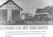 De tram verdween; autobussen en vrachtauto's kwamen. Vele keren per dag is het een komen en gaan bij het oude tramstation in Gorredijk. De tramlijn Heerenveen-Drachten werd in 1948 opgeheven, bussen van de Nederlandse Tramweg Maatschappij vervoerden voortaan de passagiers.